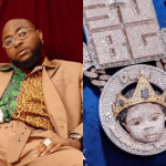 Davido Reveals Face Of His Son On Diamond Necklace Worth N150m (Photos)