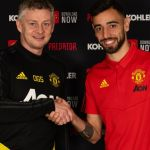 Manchester united completes the signing of Bruno Fernandes