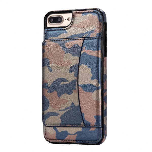 Leather Camouflage Pattern Cards Kickstand Case Cover