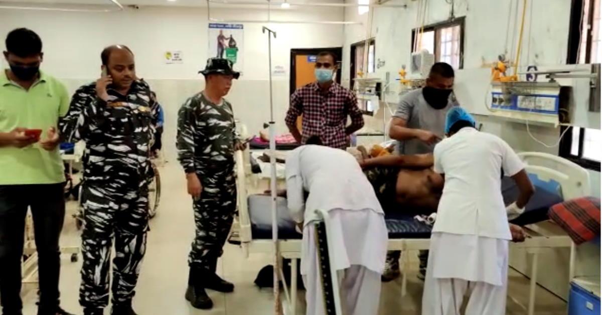 आईईडी विस्फोट से सीआरपीएफ के दो जवान घायल