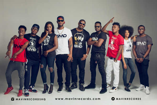 Mavin Records Dr Sid, Tiwa Savage, Don Jazzy, Di'Ja, Altims, Baby Fresh, Korede Bello, Reekado Banks 36NG 1