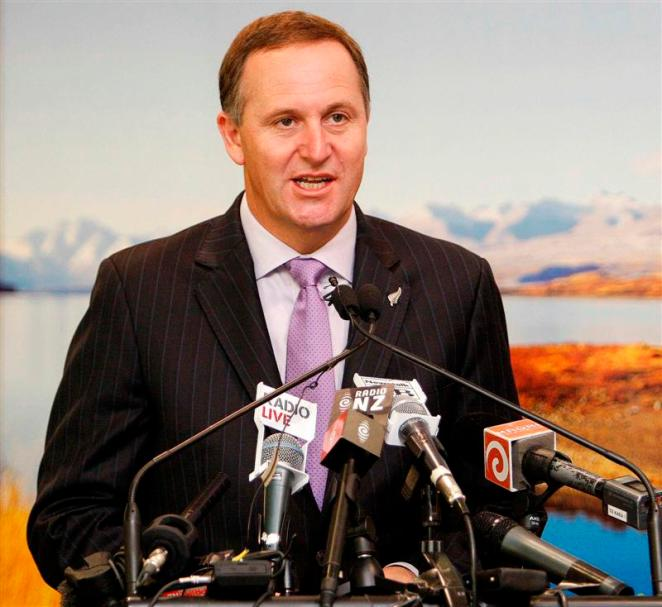 "Prime Minister JohnKey speaks at the launch of the new technology ""Smartgate"" for people travelling between New Zealand and Australia, Auckland International Airport, Auckland, New Zealand, Thursday, December 3, 2009. Credit:NZPA / Wayne Drought"