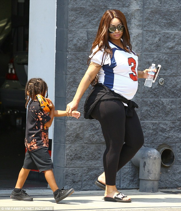 Blac Chyna Pictured With Her Son, King Cairo (Peek) (1)
