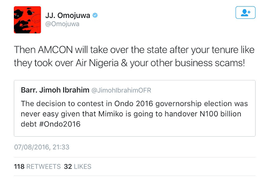 Jimoh Ibrahim Accused Of Committing 'Business Scams' By Omojuwa