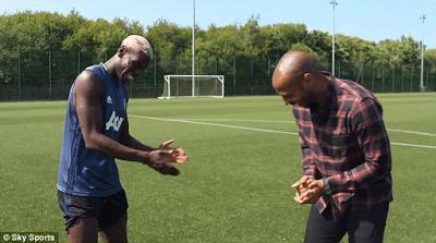 Paul Pogba & Childhood Idol, Thierry Henry Dab Together (Photos) (2)