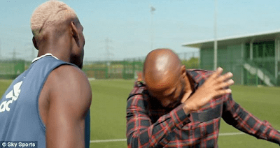 Paul Pogba & Childhood Idol, Thierry Henry Dab Together (Photos) (3)