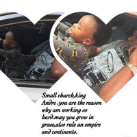 After 11 months, Tonto Dike's Son Face Finally Revealed