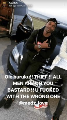 Davido Sends Death Threat To Man Who Scammed Him