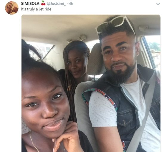 Lady Surprised To See BBNaija's Thintalltony As The Driver Of The Taxi She Ordered
