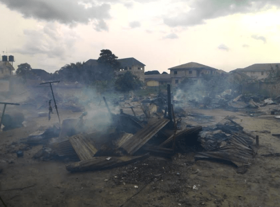20 Families Now Homeless As Cooking Gas Cylinder Explodes In Delta (Photos)