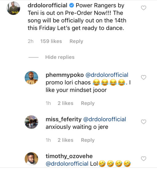 Teni's Label Boss Reacts After Peruzzi Begins Assaulting Teni's Lovers
