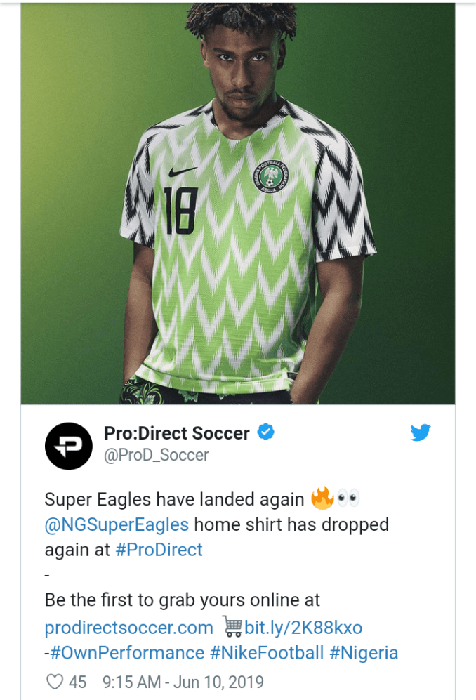 Nike is Restocking the Super Eagles 2018 World Cup Collection!