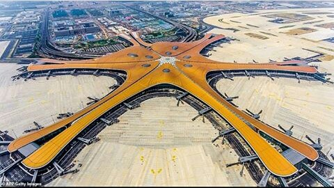 China Completes It's £9 Billion Mega Airport In Beijing After 4 Years. Construction work complete on China's new Beijing Daxing International
