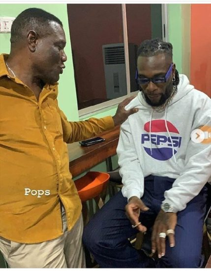 Pepsi's Latest Brand Ambassador, Burna Boy Pictured With His Dad At BBNaija Premier. Burna boy was present at the premier of the 2019 edition of the Big Brother Naija show