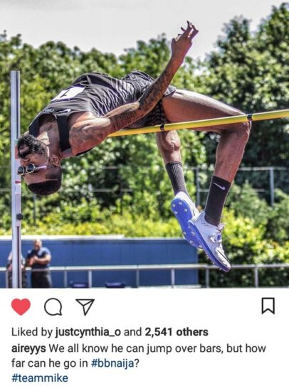 BBNaija: Mike's Amazing High Jump Skills Is The Trending Topic Online