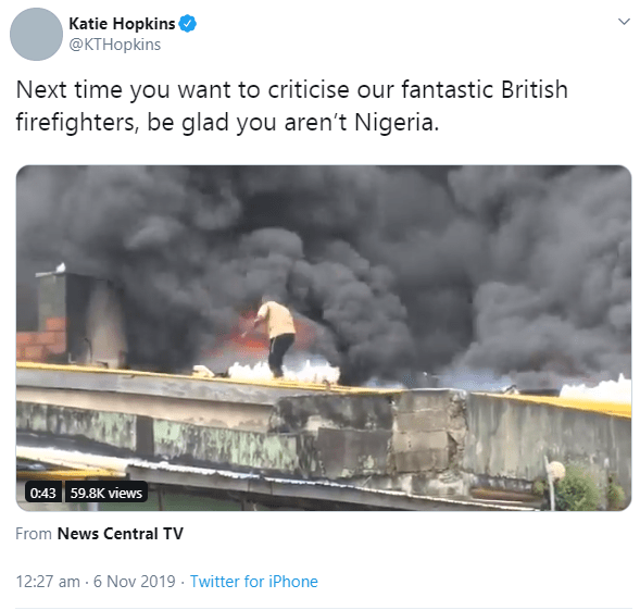 5dc267460fe023023578460514738434 - British media personality, Kate Hopkins mocks Nigerians