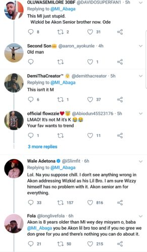 """Twitter Slams MI For Calling Out Akon For Referring To Wizkid As """"Lil Bro"""" 2"""