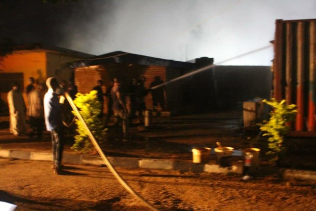 Ondo election: INEC office on fire, smart card readers burnt 5