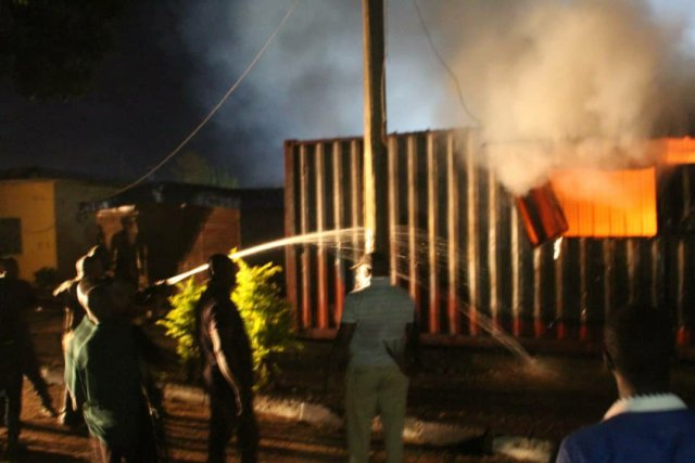 Ondo election: INEC office on fire, smart card readers burnt 2