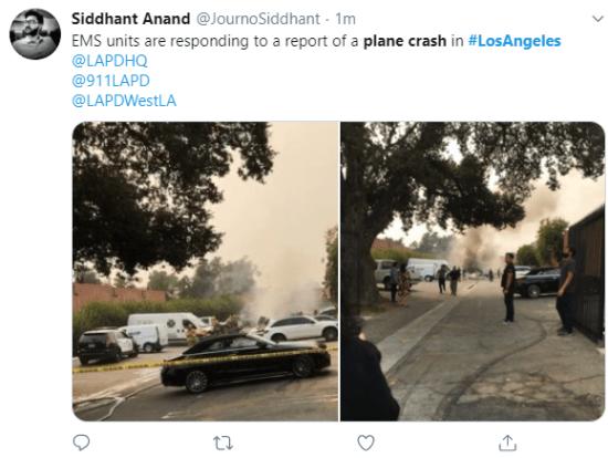 Plane crash kills 2persons in Los Angeles 8