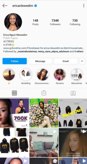 Erica shocks her fans as she deletes all BBNaija media from her page 2