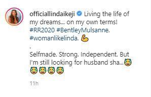 """I'm still looking for husband"" – Billionaire Blogger, Linda Ikeji says 2"