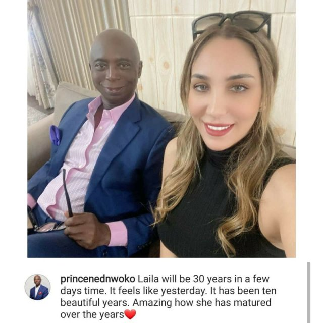 """""""It's been 10 beautiful years"""" Ned Nwoko counts down to his Moroccan wife's 30th birthday 2"""