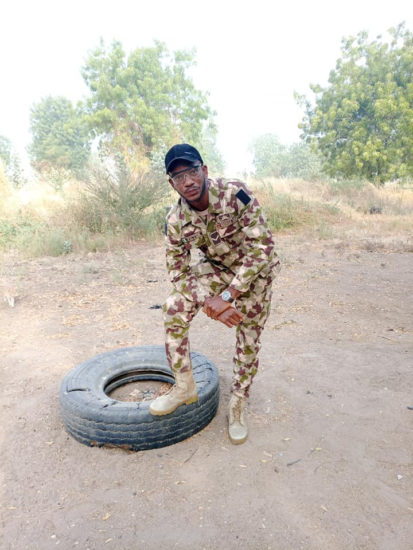 See how a soldier serving in Borno state celebrated his birthday (photos) 4