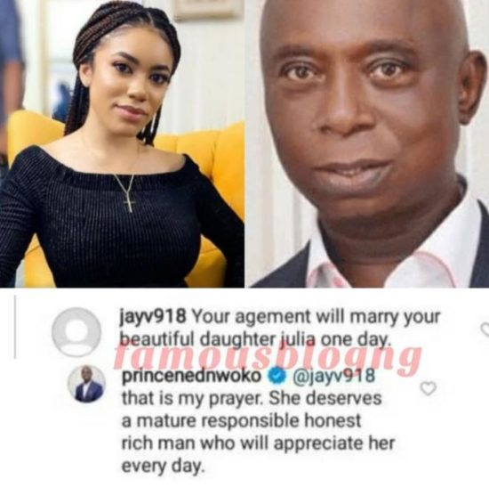Ned Nwoko says he prays for his daughter to marry an old rich and matured man like him 3