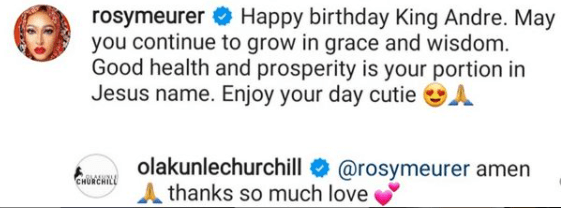 Rosy Meurer wishes Tonto Dikeh's son a happy birthday 2