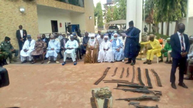 Repentant bandits surrender their weapons in Zamfara 2