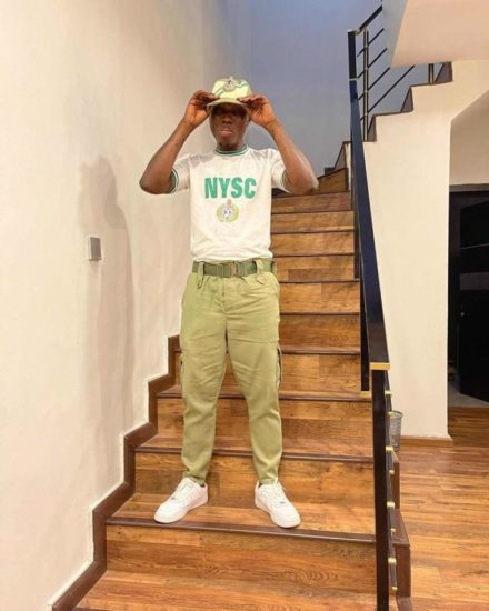 """Glory be to God"" – Zlatan Ibile says as he poses in NYSC kits 3"