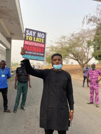 #Enduniabujaoppression: University of Abuja students on a peaceful protest (Pics) 3
