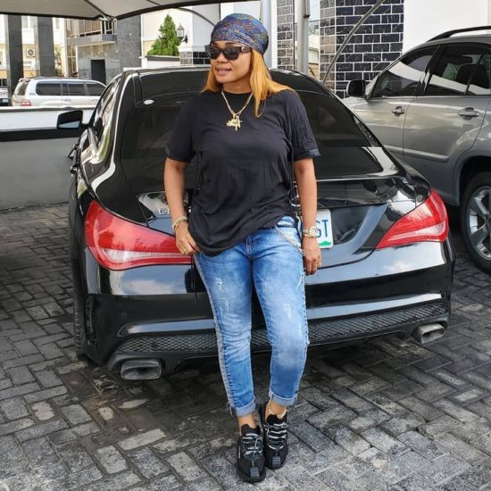 Iyabo Ojo eyes her daughter's Mercedes, says the car fits her 5