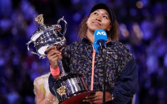 Naomi Osaka wins her fourth Grand Slam title. 1