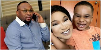May the Lord honour your mum: Olakunle Churchill prays for Tonto Dikeh on son's 5th birthday 1