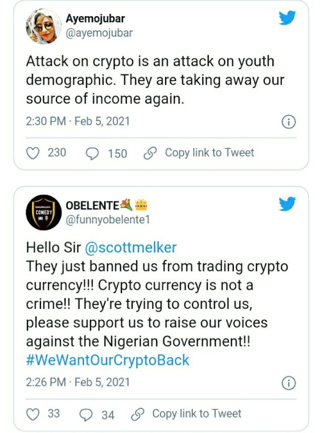 See How Everyone is Reacting to CBN's Ban on Cryptocurrency Exchange in Nigeria 5