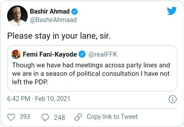 Stay in your lane, Buhari's aide reacts as Fani-Kayode addresses rumoured defection to APC 2