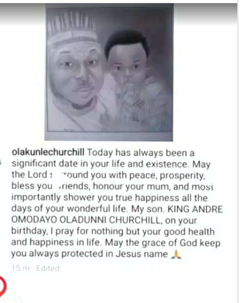 May the Lord honour your mum: Olakunle Churchill prays for Tonto Dikeh on son's 5th birthday 2