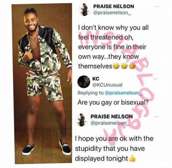 BBNaija's Praise shuts questions about his sexuality 2