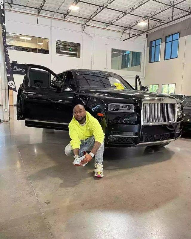 Davido Splashes N240m on Brand New 2021 Rolls Royce, Shares Photos Online 2