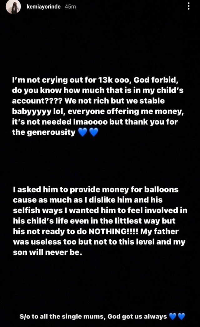 Lyta's Baby mama continues to drag him as she goes on a long rant about him not contributing financially 5