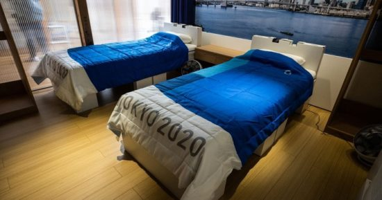 Officials Install Cardboard Beds To Prevent Sex At Tokyo 2020 Olympics (Photos)