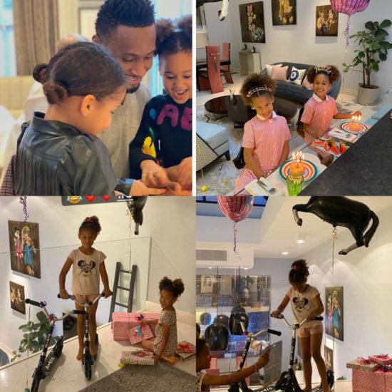 Mikel Obi's twin daughters turn 6 1