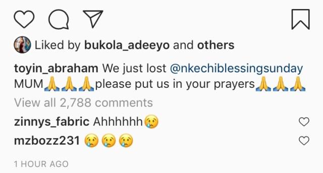 Nkechi Blessing loses mum 2