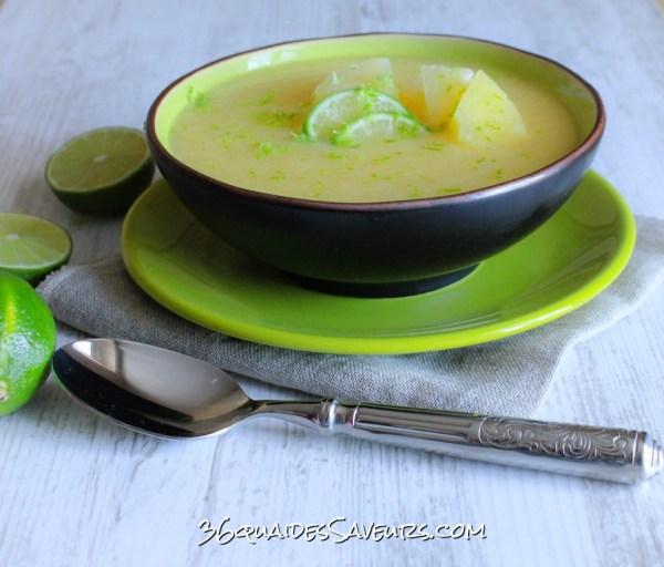 Soupe ananas et litchis