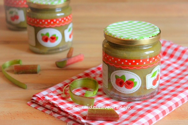 confiture rhubarbe vanille thermomix
