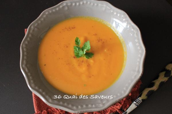 Crème de carotte et patate douce