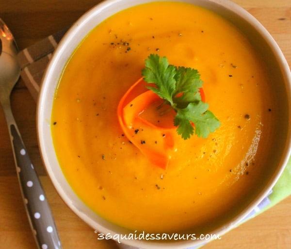Crème de carottes à l'orange et au gingembre