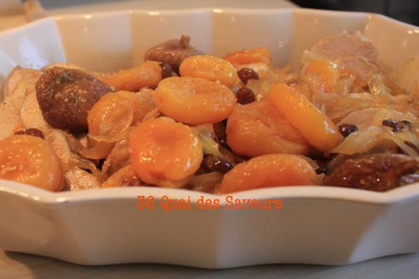 Filet mignon de porc aux fruits secs et à l'orange